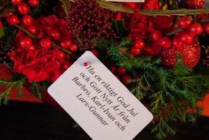 Dagarna före jul fick Gösta via bud ett par vackra julgrupper från några av de personer som dagligen följer hans blogg på internet.
