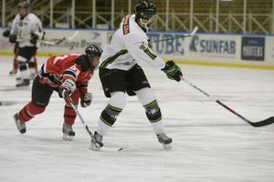 I mittperioden var Hudik Hockey steget efter.