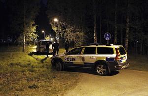 Polisen hade patruller på plats under natten.