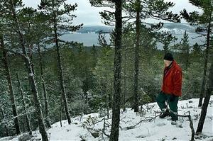 Anders Berglund i Sörsvedje är en av Älgöns delägare. Efter en vintrig rundvandring på ön är han än mer övertygad om att det vore en bra lösning att ön i framtiden blev naturreservat.