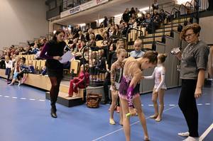 Uppladdning. Elizaveta Kozlova från Litauen laddade minuten innan hon skulle in på mattan och göra sitt program.BILD: MICHAEL LANDBERG