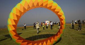 Drakflygare från hela världen möttes i Mumbai.