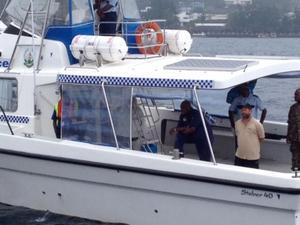 Kapten Ricky Malaise arresteras av polisen på Vanuatu.