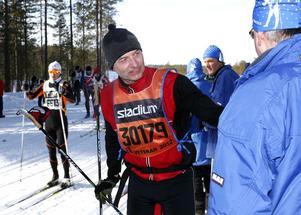 Per Vikner åkte på 6.03 och fick medalj för den tiden.