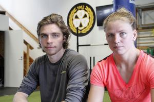 Felix Sandström och Sara Grahn, målvakter som tränar ihop i Brynäs.