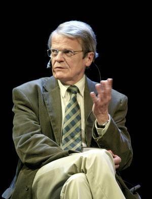 Curt Bladh i debattagen, där han ofta återfanns. Nu har hans röst tystnat.