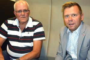 Sture Andersson, kommunens IT-strateg t v, tillsammans med kommunalrådet Per Nylén (S).