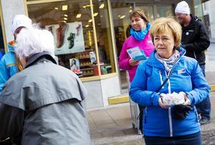Beatrice Ask inledde Moderaternas EU-valskampanj med ett besök i Östersund i helgen.