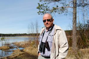 Lars Arvidsson leder fågelskådningsturerna på söndag.