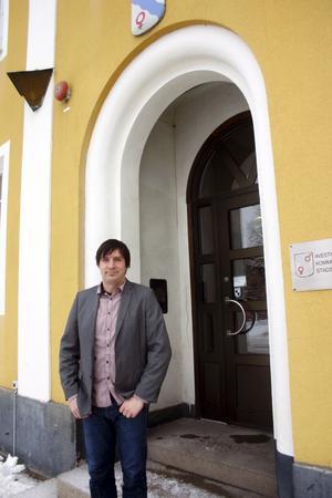 Kommunalråd Lars Isacsson, S,visar ett stort personligt engagemang i den nya satsningen för att få kommunen att växa.