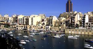 Kontor i paradiset. Vy ut över hamnen. Foto:Privat