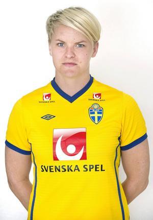 En av de mest namnkunniga spelarna i laget: Nilla Fischer, född 1984 i Verum, spelar i Wolfsburg.