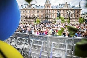 Nationaldagen brukar locka många till Stora torget, så här såg det ut 2017.