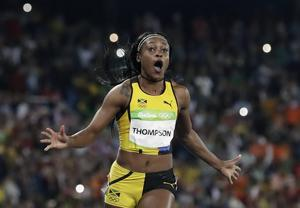 Jamaicas Elaine Thompson vann guld på 100 meter.