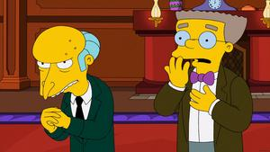 Mr Burns med sin assistent Waylon Smithers.