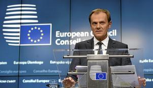 Trovärdig. Han låter lite högtravande. Men just Donald Tusk är trovärdig när han talar om EU:s värden. Han var en av dem som trotsade den kommunistiska regimen i Polen på 80-talet. Foto: Virginia Mayo/TT-AP