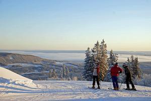 Utsikt från fjället i Klövsjö.