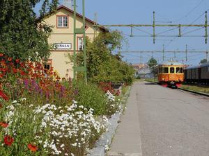 Vid Sveriges Järnvägsmuseum har en järnvägspark återskapats så som de ofta såg ut på 1940-talet.