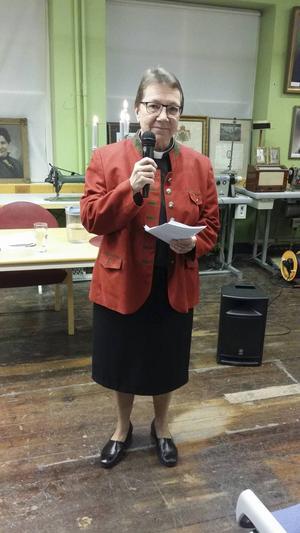 Kyrkoherde Ann-Gerd Johansson berättade om sitt liv som präst.