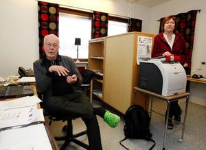 Birger Backlund och Carina Thunström jobbar med projektet Fria Föllinge.