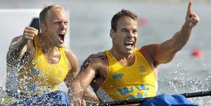 Markus Oscarsson och Henrik Nilsson tog guld i Aten-OS. Nu är de klara för London.