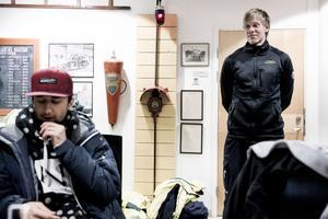 Arja Babamiri och Mikael Edmundh som höll en genomgång innan övningen drog igång.