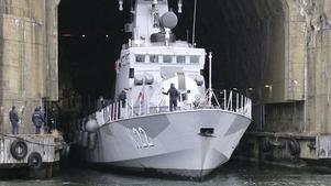 På Muskövarvet sker service av marinens olika fartyg. Fotograf: Peter Nilsson