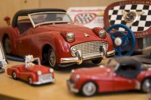 Olle Odsells Triumph-monter är full av modellrariteter.