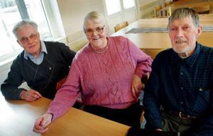 Eric Rörborn, Birgit Einebrant och Janne Mårtensson är några av körens många veteraner.