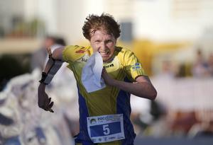 Jerker Lysell var näst snabbast på den andra sträckan, men det hjälpte inte till medalj för Sverige.