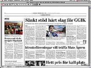 Ur Gefle Dagblad den 27 mars.