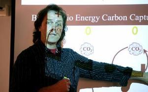 Pär Holmgren, tidigare meterolog på SVT, var en av föreläsarna. Foto: Johnny Fredborg