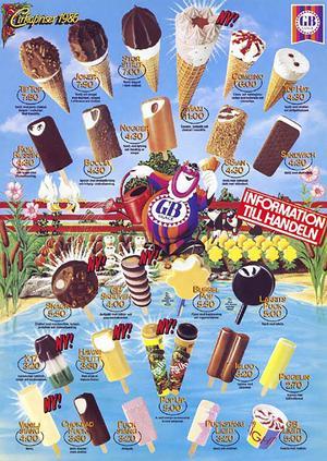 1986, Bubbel Pop och Lakrits Puck med ätbar pinne.