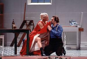 Malena som Fröken Julie operaversionen i Bryssel 2005.