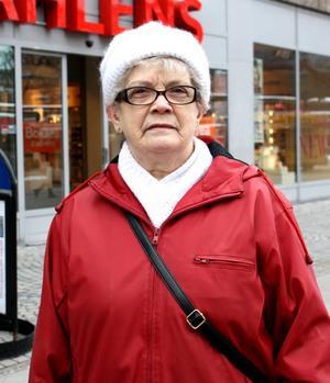 Astrid Olofsson, 80, pensionär, Andersberg:– Lite då och då, minst en gång per vecka. Jag har inte tänkt på det faktiskt, jag köper det och tycker att det är gott.