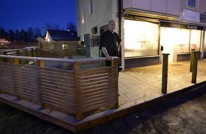 Danny Fortier och kollegan Kristoffer Bergström slog upp dörrarna till Flavors café i oktober 2013. När utbyggnaden är klar ska antalet sittplatser vara dubbelt så många som i dag.