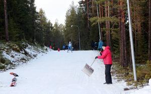 Hede SK har under några intensiva dygn lyckats få till spåren och tävlingen kunde köras.