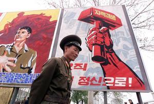 Gatubild från Pyongyang