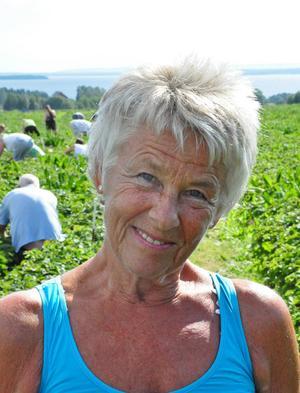 Laila Jämtgård, Frösön.   – Jag rårör och fryser in. Men i morgon ska jag göra jordgubbstårta med dem till mitt barnbarn som fyller år, det är ett måste.