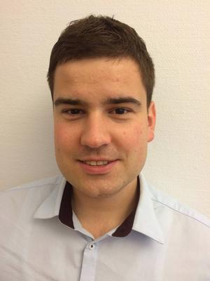 Adam Danisovic, nyanställd affärsutvecklare på näringslivskontoret vid Östersunds kommun.