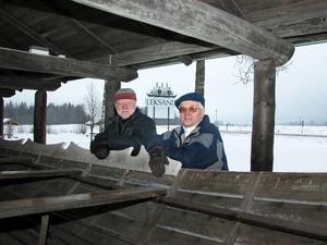Uppmaning. Ronny Svensson och Thore Sterner uppmanar både kommunen och andra intressenter att hjälpa till att bevara Kapprodden i Leksand.