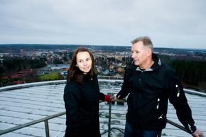 VA-chef Veronica Henriksson och driftansvarig Gunnar Ericsson.