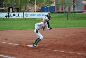 Junioren Julia WIklund var en av spelarna som bidrog till segrarna i helgens fyra matcher.