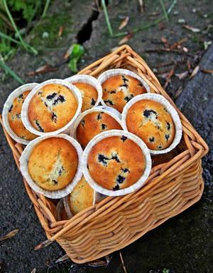 Blåbärsmuffins. I år är tillgången på blåbär god. Så passa på att baka stora, härliga blåbärsmuffins till eftermiddagsfikat.