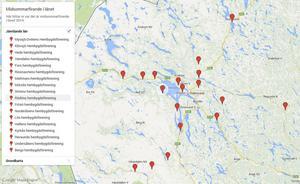 Alla platser finns också på Google maps. Skrolla ner till botten på artikeln..