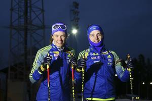 Hanna Öberg tillsammans med sambon Jesper Nelin.
