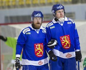 Ville Aaltonen och förre BGIF-liraren Juho Liukkonen i det finska landslag som tog VM-silver.