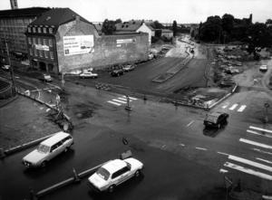 Cityringen-Stora gatan 1986. Den sista etappen på Västerås stora vägbygge.