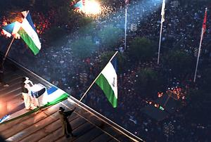 1994 var det som vanligt mycket folk på torget under presidentens tal.