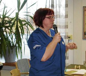 Folktandvårdens Marie Arvidsson informerade om landstingets tandvårdsstöd.